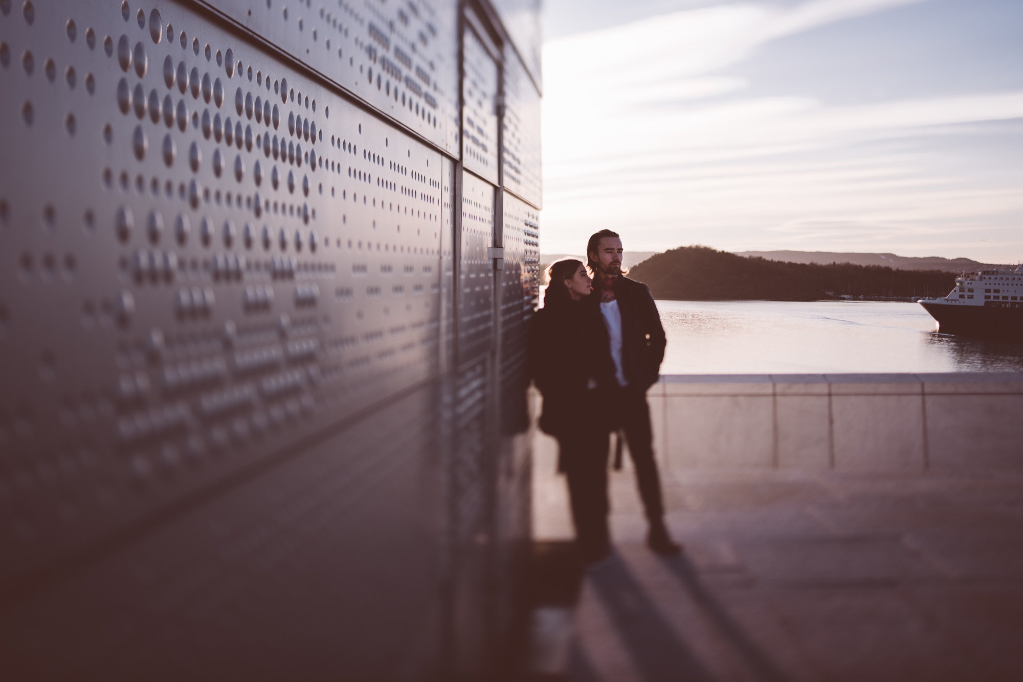 Sunset Couple Session Oslo Operahouse | Ana Fernweh | Destination Wedding Photographer